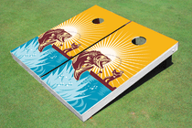 Red Fish Cornhole Board Set