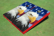 American Bald Eagle Flag Custom Cornhole Board