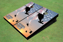 Black Hawk Custom Cornhole Board