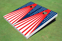 Patriotic Cornhole Board Set