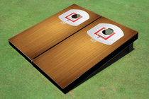 Basketball Court Cornhole Board set