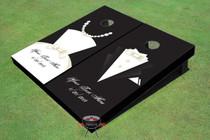 Tux and Dress Wedding Theme Cornhole Boards