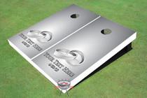 Rings Silver Wedding Custom Cornhole Board
