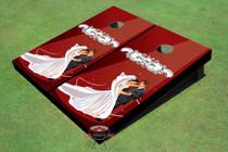Red Wedding Dance Custom Cornhole Board