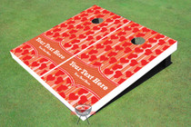 Hearts Cornhole Board Set