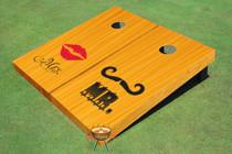 Mr. & Mrs. Wedding All Wood Cornhole Board Set