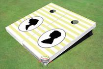 Striped Pattern Wedding Custom Cornhole Board - AAT-2113