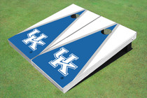 University Of Kentucky Blue And White Matching Triangle Custom Cornhole Board
