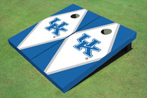 University Of Kentucky White And Blue Matching Diamond Custom Cornhole Board