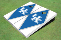 University Of Kentucky Blue And White Matching Diamond Custom Cornhole Board