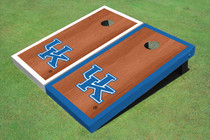 University Of Kentucky Rosewood Alternating Border Custom Cornhole Board