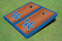 University Of Kentucky Blue Rosewood Matching Borders Cornhole Boards
