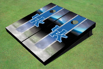 University Of Kentucky Field Matching Blue Long Strip Custom Cornhole Board