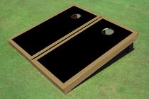 Black And Gold Matching Border Custom Cornhole Board