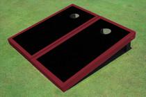 Black And Maroon Matching Border Custom Cornhole Board