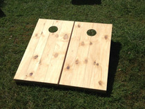 Unstained / Unfinished Wood Slat Custom Cornhole Board