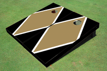 Dark Gold And Black Matching Diamond Custom Cornhole Board