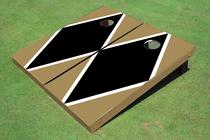 Black And Gold Matching Diamond Custom Cornhole Board