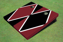 Maroon And Black Alternating Diamond Custom Cornhole Board