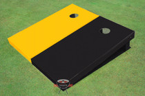 Yellow And Black Solid Custom Cornhole Board