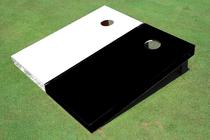 White And Black Solid Custom Cornhole Board