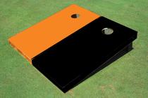 Black And Orange Solid Custom Cornhole Board