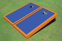 Blue And Orange Matching Border Cornhole Set