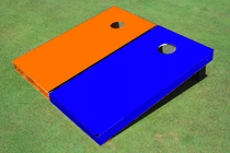 Orange And Blue Alternating Solid Cornhole Set