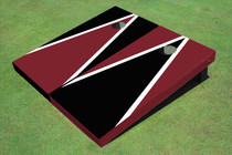 Maroon And Black Alternating Triangle Set