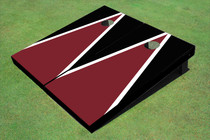 Maroon And Black Matching Triangle Set