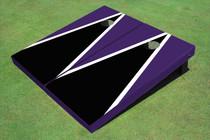Black And Purple Matching Triangle Set