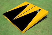 Black And Yellow Matching No Stripe Triangle Set