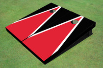 Red And Black Matching Triangle Cornhole Board Set