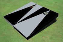 Gray And Black Alternating No Stripe Triangle Set