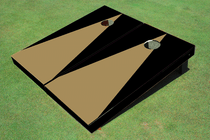 Dark Gold And Black Matching No Stripe Triangle Set