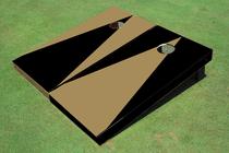 Dark Gold And Black Alternating No Stripe Triangle Set