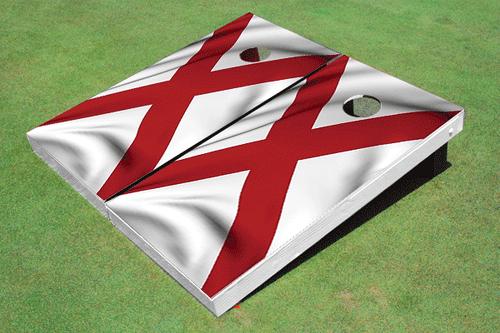 Alabama State Flag Cornhole Board