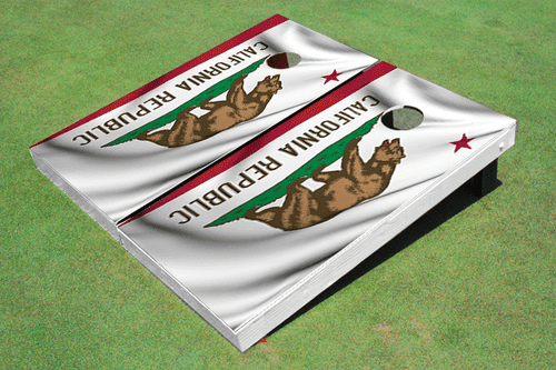 California State Flag Custom Cornhole Board
