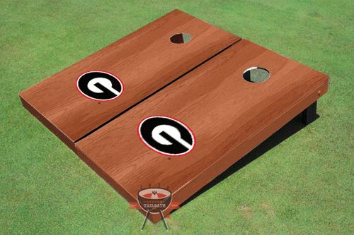"University Of Georgia ""G"" Solid Rosewood Cornhole Boards"