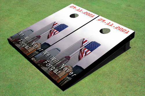 9/11 Never Forget American Flag Cornhole Board set