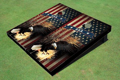 American Bald Eagle Cornhole Board set