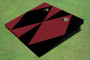Maroon And Black Alternating Diamond No Stripe Custom Cornhole Board