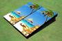 Beach Chair Near Umbrella Custom Cornhole Board
