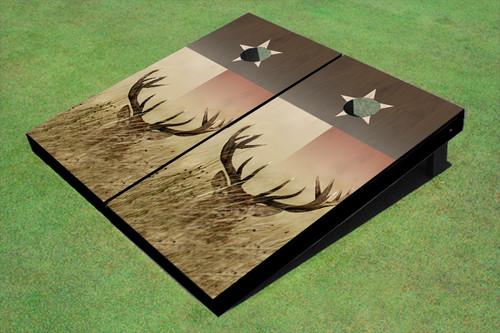 Georgia Southern University Store >> Custom Texas Flag With Deer Themed Cornhole Boards