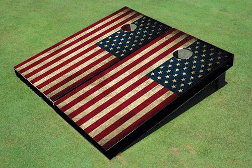 Georgia Southern University Store >> American Flag Themed Cornhole Board set