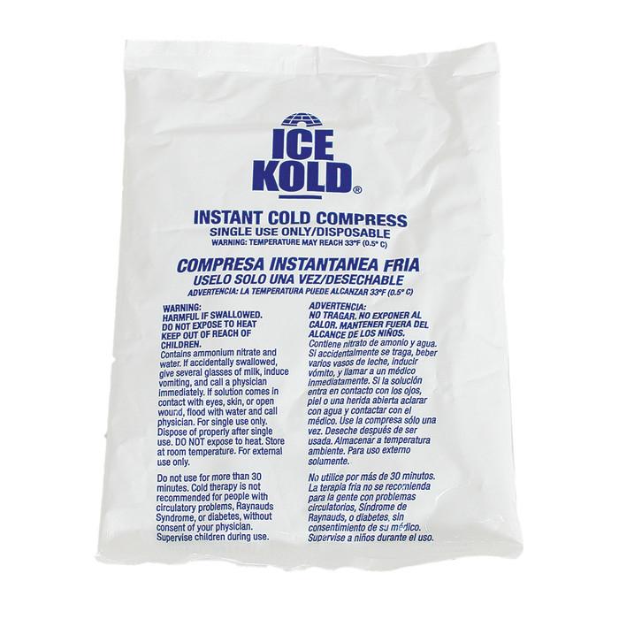 "STANDARD ICE KOLD INSTANT ICE COMPRESS, 6"" X 8-1/4"""