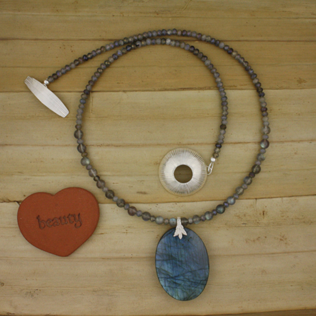 Full View - Labradorite Necklace (1223)