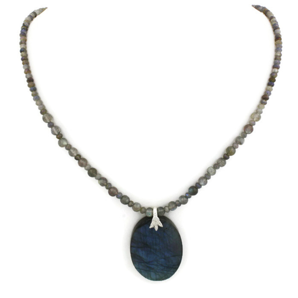 Front View - Labradorite Necklace (1223)