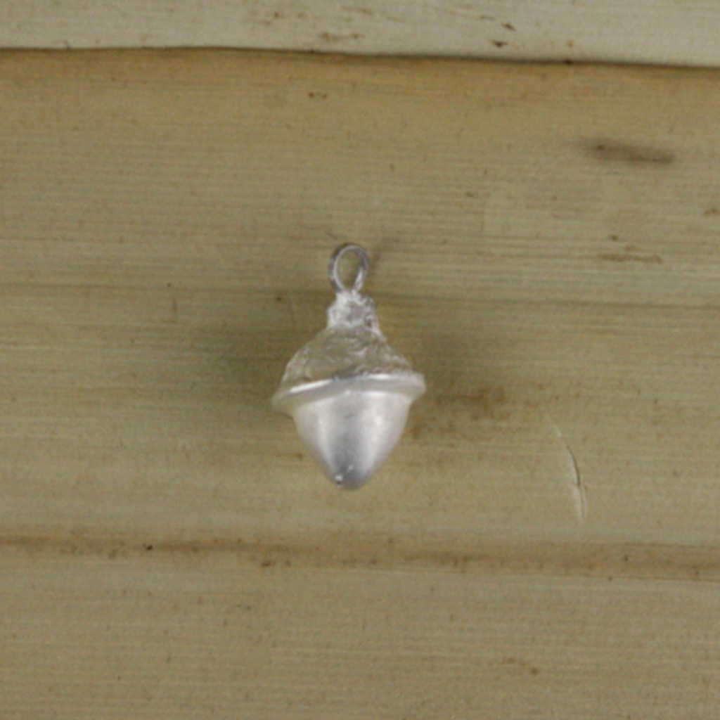 Bamboo Front View - Acorn pendant made with .999 Fine Silver (1339)