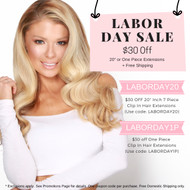 """Labor Day Sale $30 off 20"""" Or One Piece Extensions"""